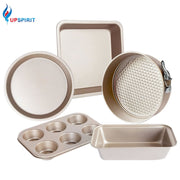 Steel Gold Bakeware Set Nonstick