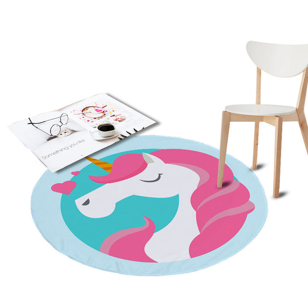Coral Velvet Chair Floor Mat
