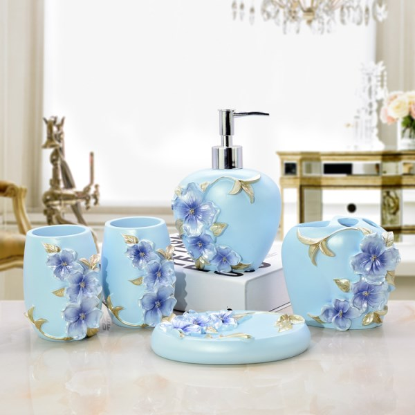 5pcs 6pcs/set Resin Bathroom Toothpaste Holders