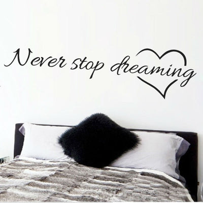 inspirational quotes wall art bedroom decorative stickers