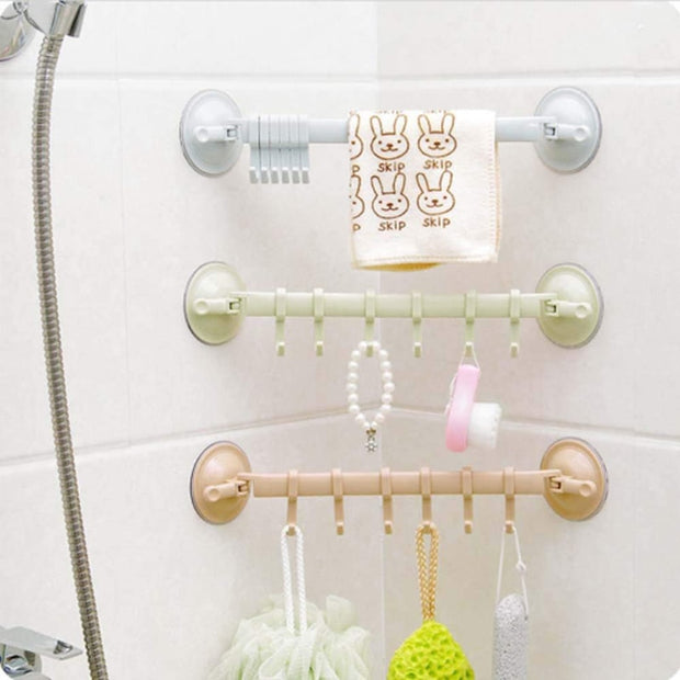 Double Suction Cup Towel Rack