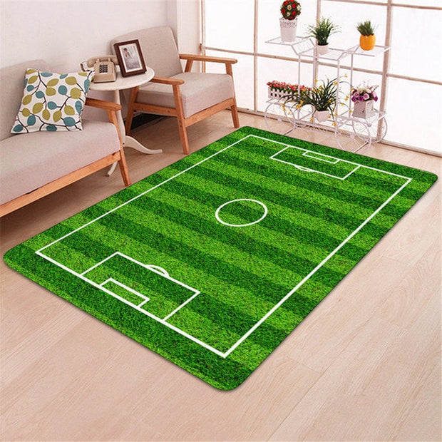3D Football Area Rugs