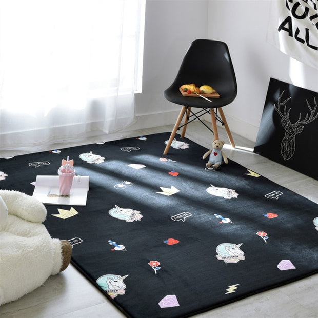 Fluffy child carpet carpets rug