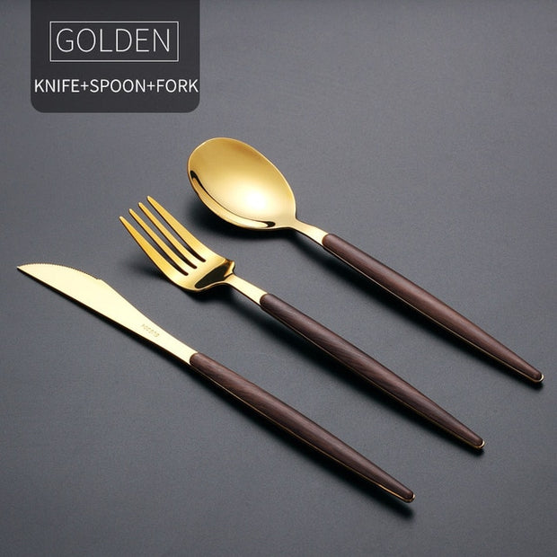 Portable Gold Cutlery