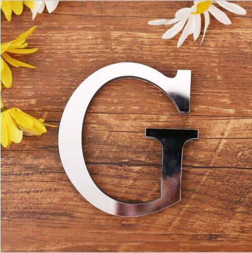 28 English Letters Acrylic Mirror Surface Wall Sticker