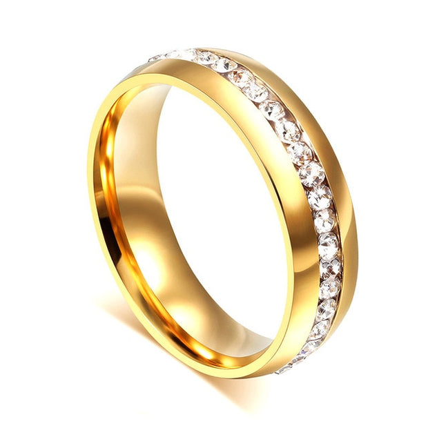 Gold-color Wedding Bands Ring