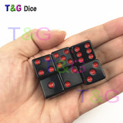 Black Dice with Colorful Dots
