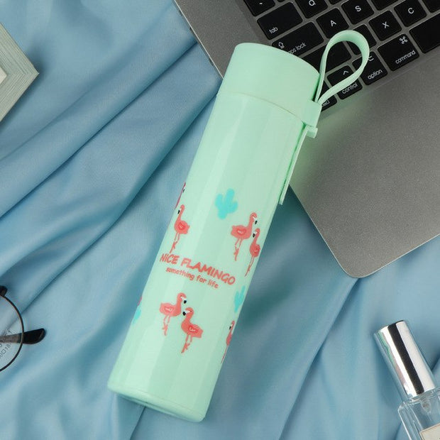 Cartoon Totoro Flamingo Drink Water Bottle