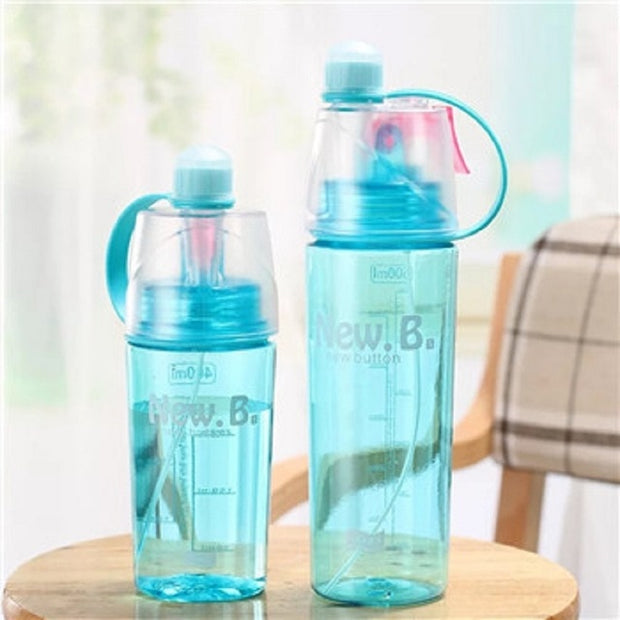Plastic Sports Spray Water Bottle