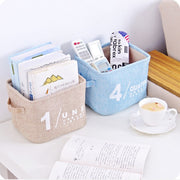 Cotton Linen Desktop Organizer