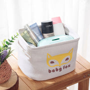 Cotton Linen Desktop Storage Basket