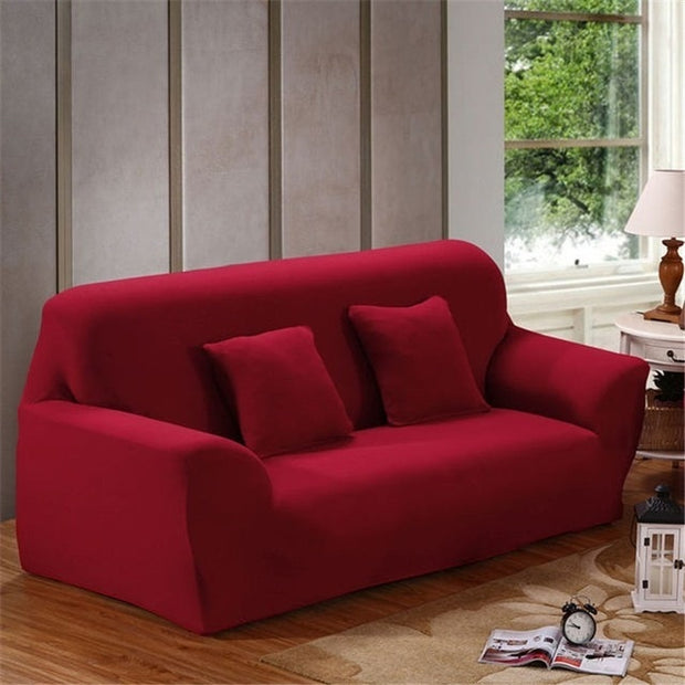 Solid Color Polyester Sofa Cover