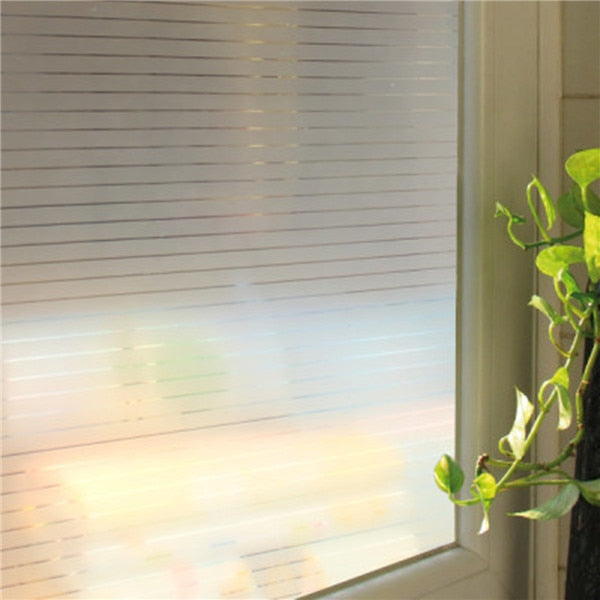45x200cm Stripe Glass Frosted Protection Window Film Sticker