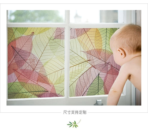 Custom personalized color electrostatic glass window film