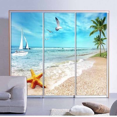 Customized sliding door stickers