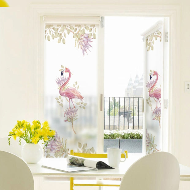 , bathroom window, door moving sunscreen glass stickers