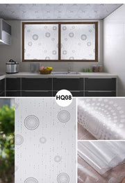 Retro Windows Paste Paper-cut Frosted Sticker