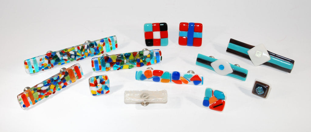 Pulls and Knobs Fused Glass Jewelry for Cabinets and Furniture