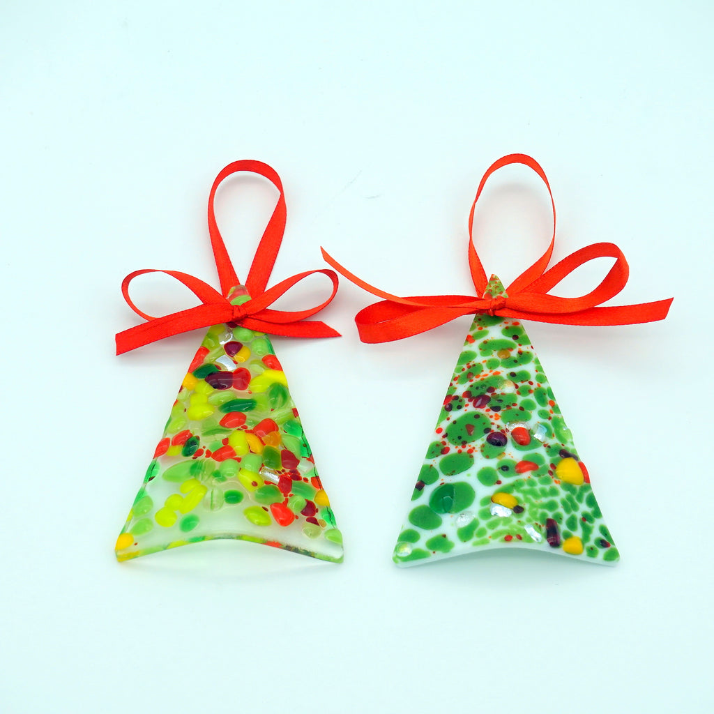Christmas Fused Glass Tree Ornament