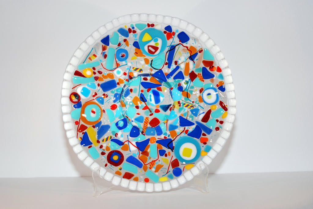Whimsical and Functional Fused Glass Bowl