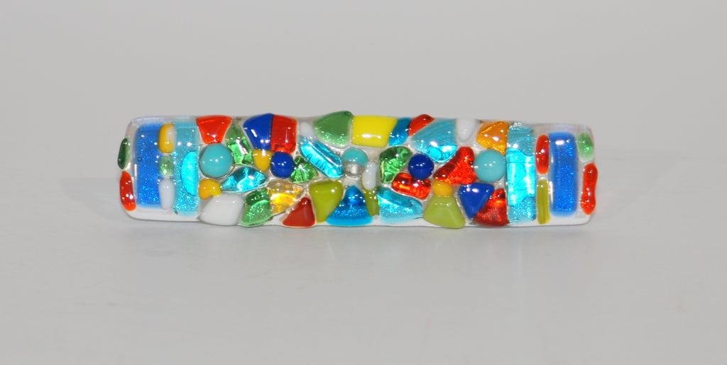 Cabinet Pull made of Fused Glass Nuggets