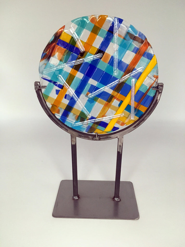 Blue and yellow Plaidworks disc