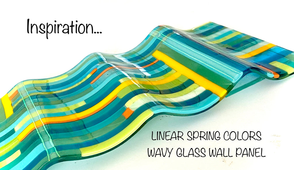 Tea Towel-Linear Spring Colors Collection