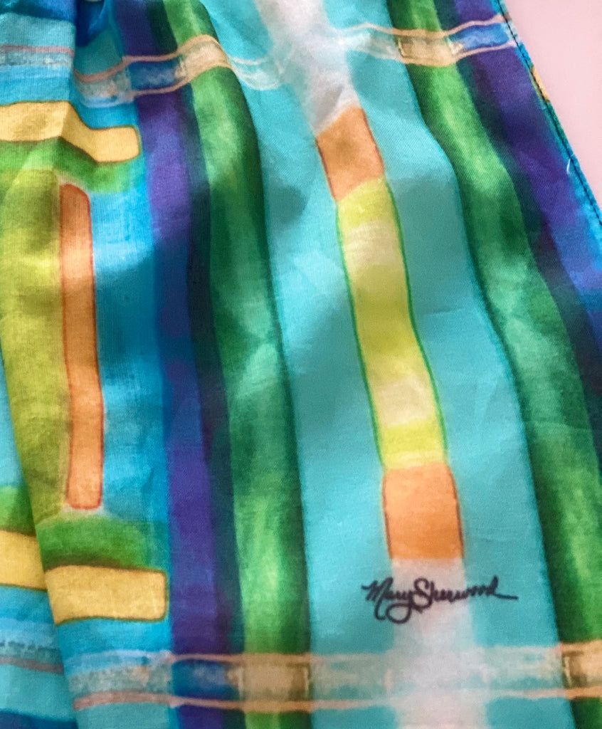 Scarf-Linear Spring Colors Collection