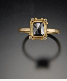 Ananda Khalsa black diamond ring