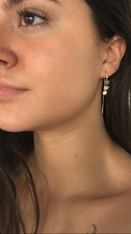 Chemistry Jewelry Tai thread earrings