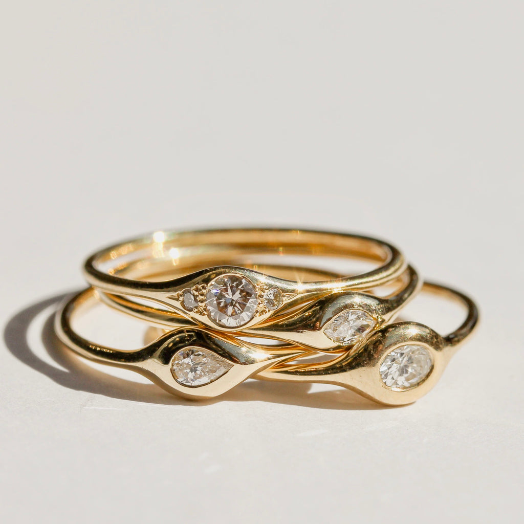 Diana Mitchell Rings Stack