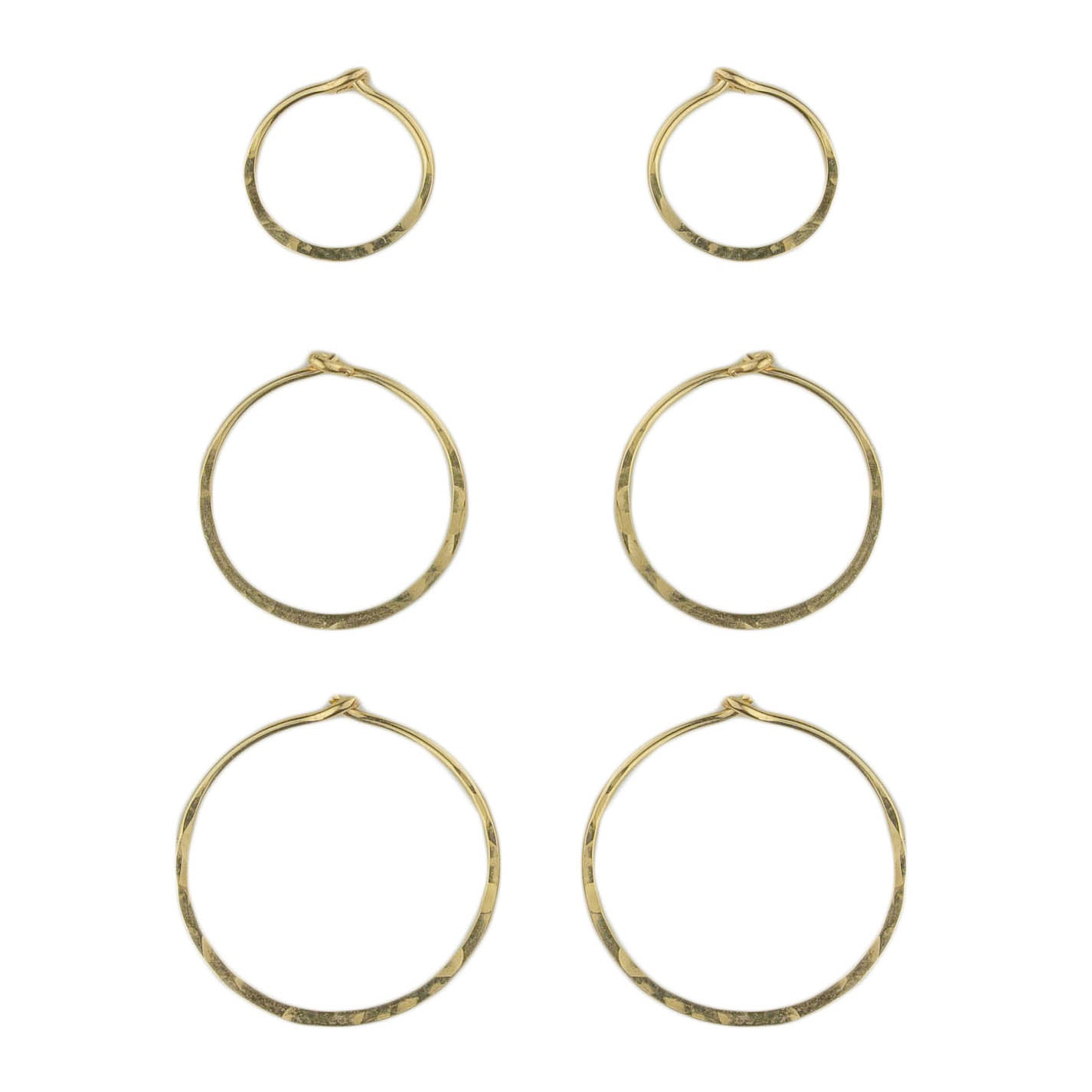 Tiny Gold Hoops - 3 Pack