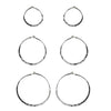 Tiny Silver Hoops - 3 Pack