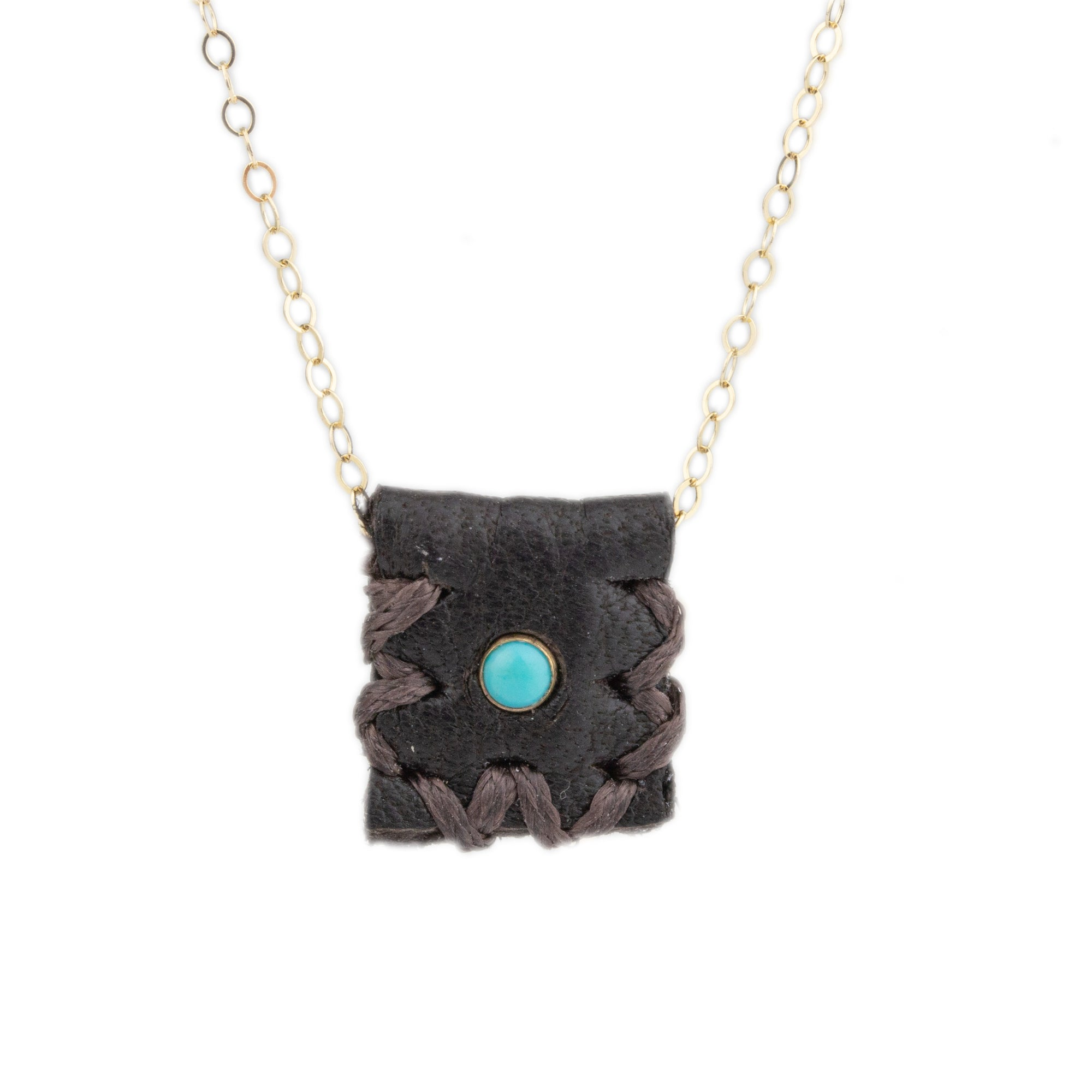 Turquoise Medicine Bag Necklace