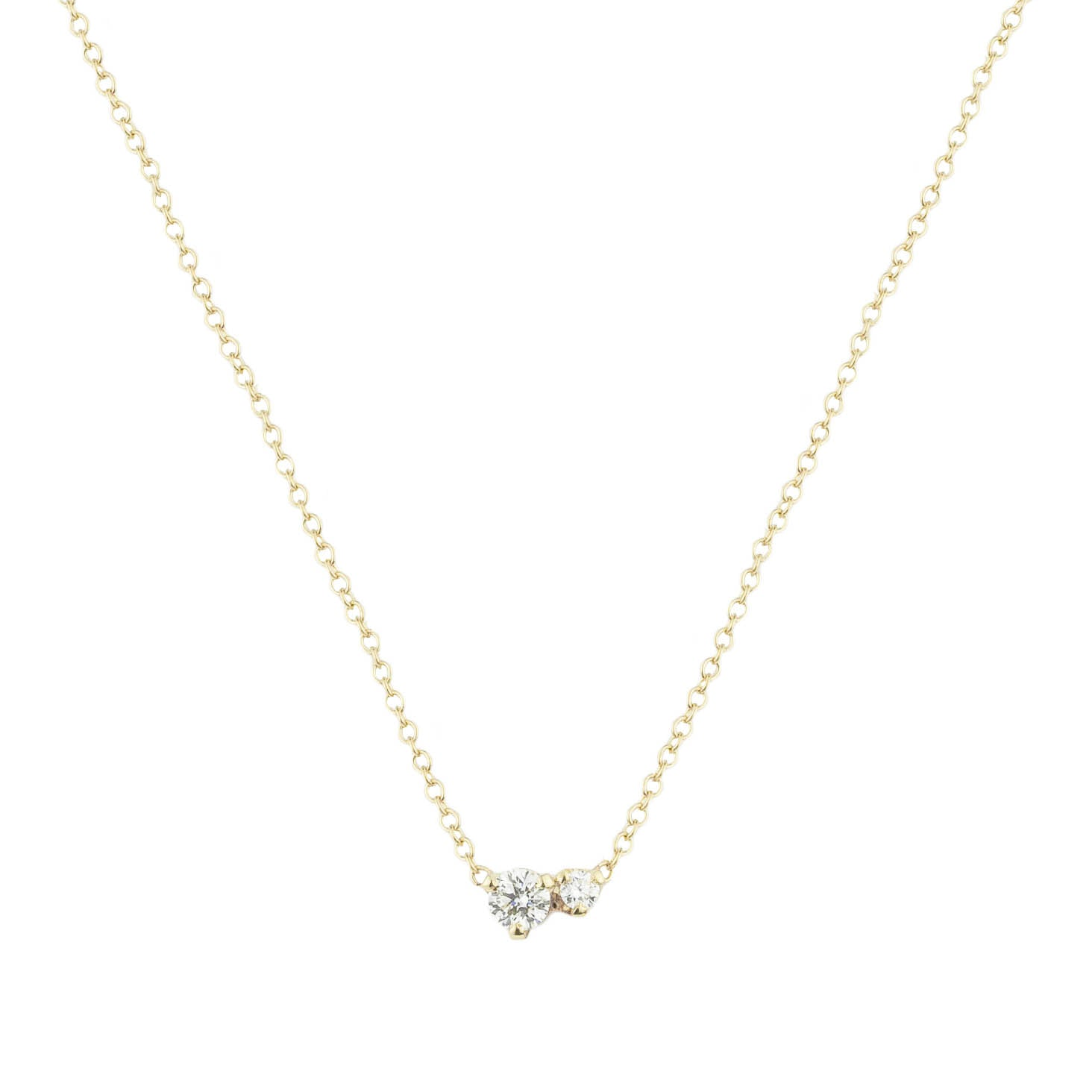 Double Diamonds Necklace
