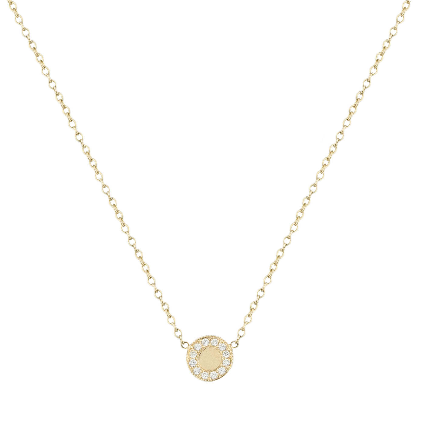 Sunrise Pave Diamond Necklace