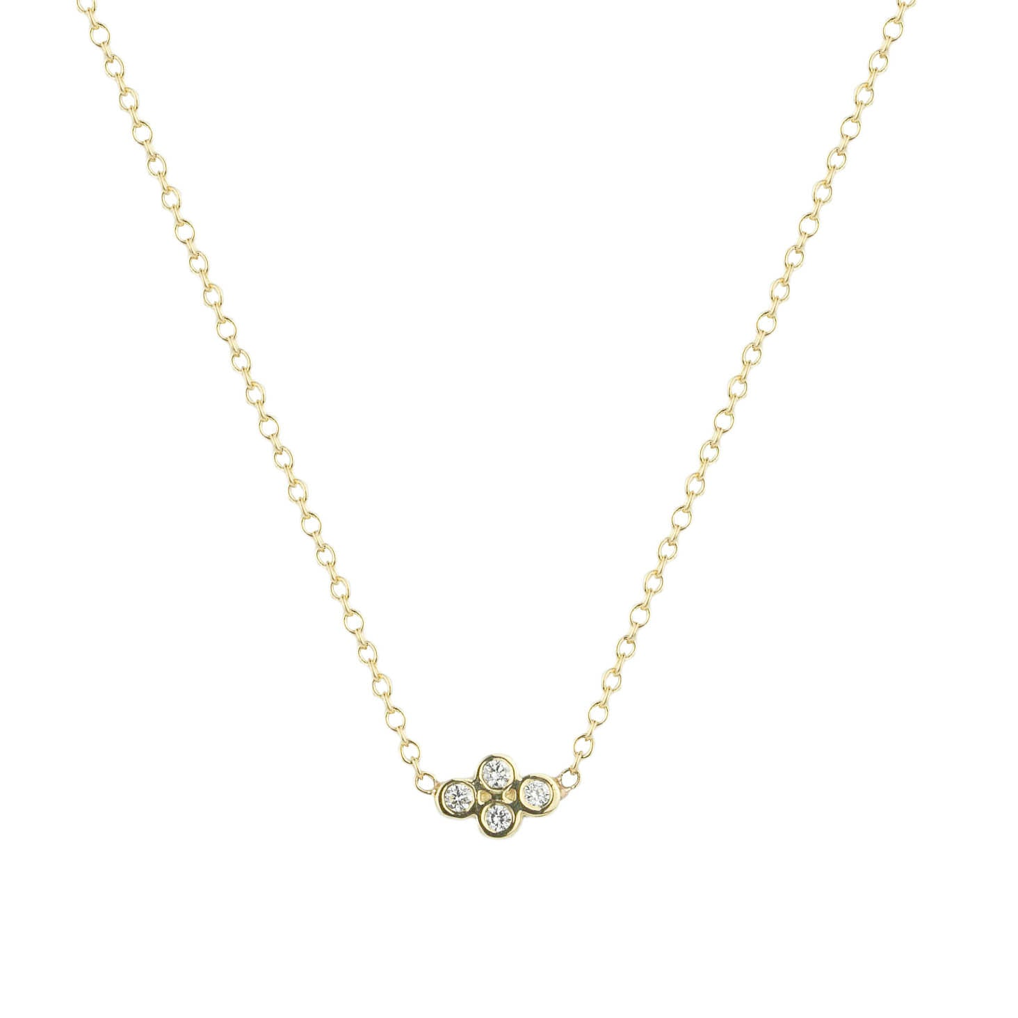 Quad Diamond Necklace