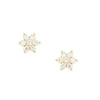Diamond Flower Post Earrings