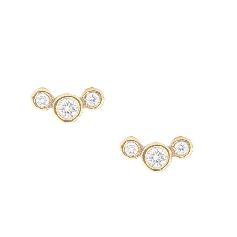 Graduated Diamond Post Earrings