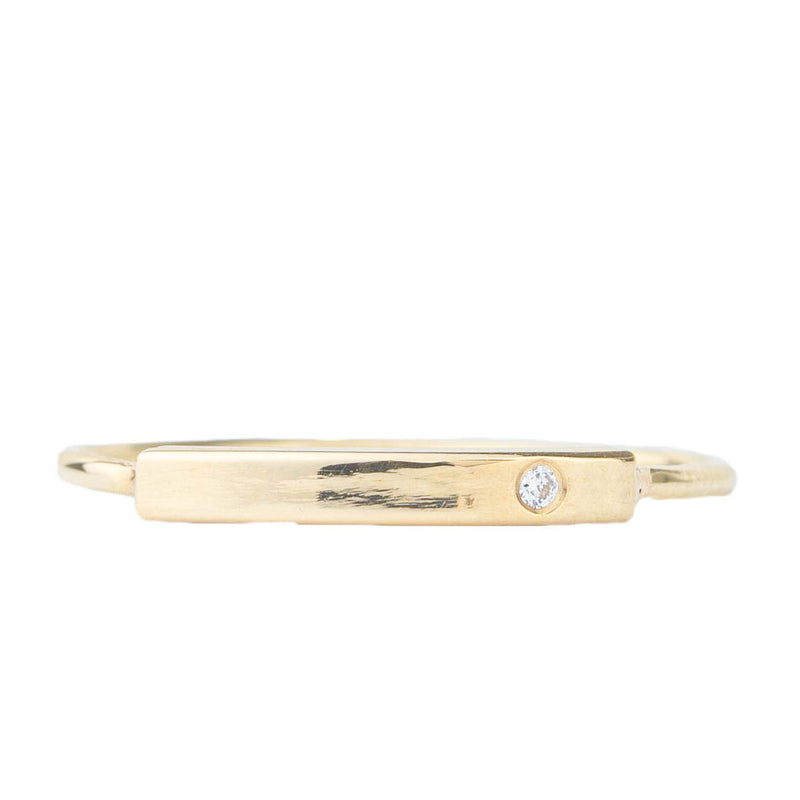 Stacking Bar Ring w Diamond