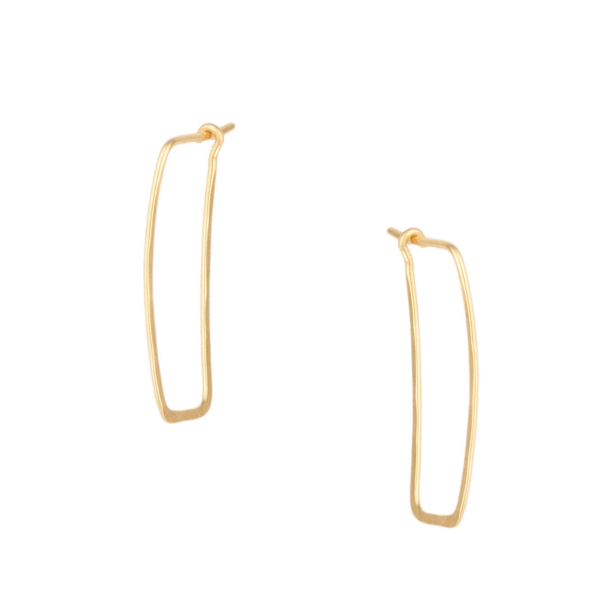Glacier Lily Rectangular Hoops