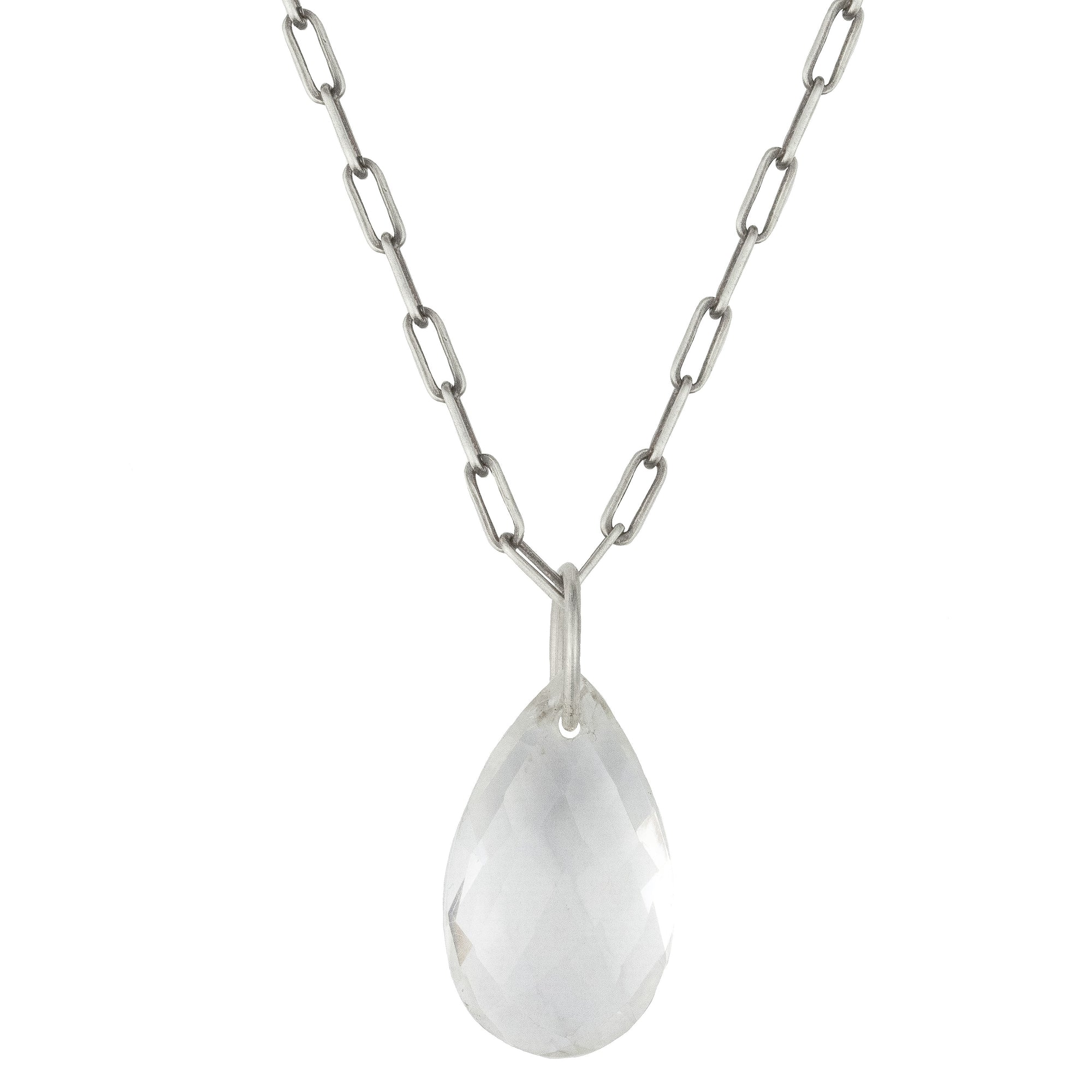 Clarity Quartz Drop Necklace