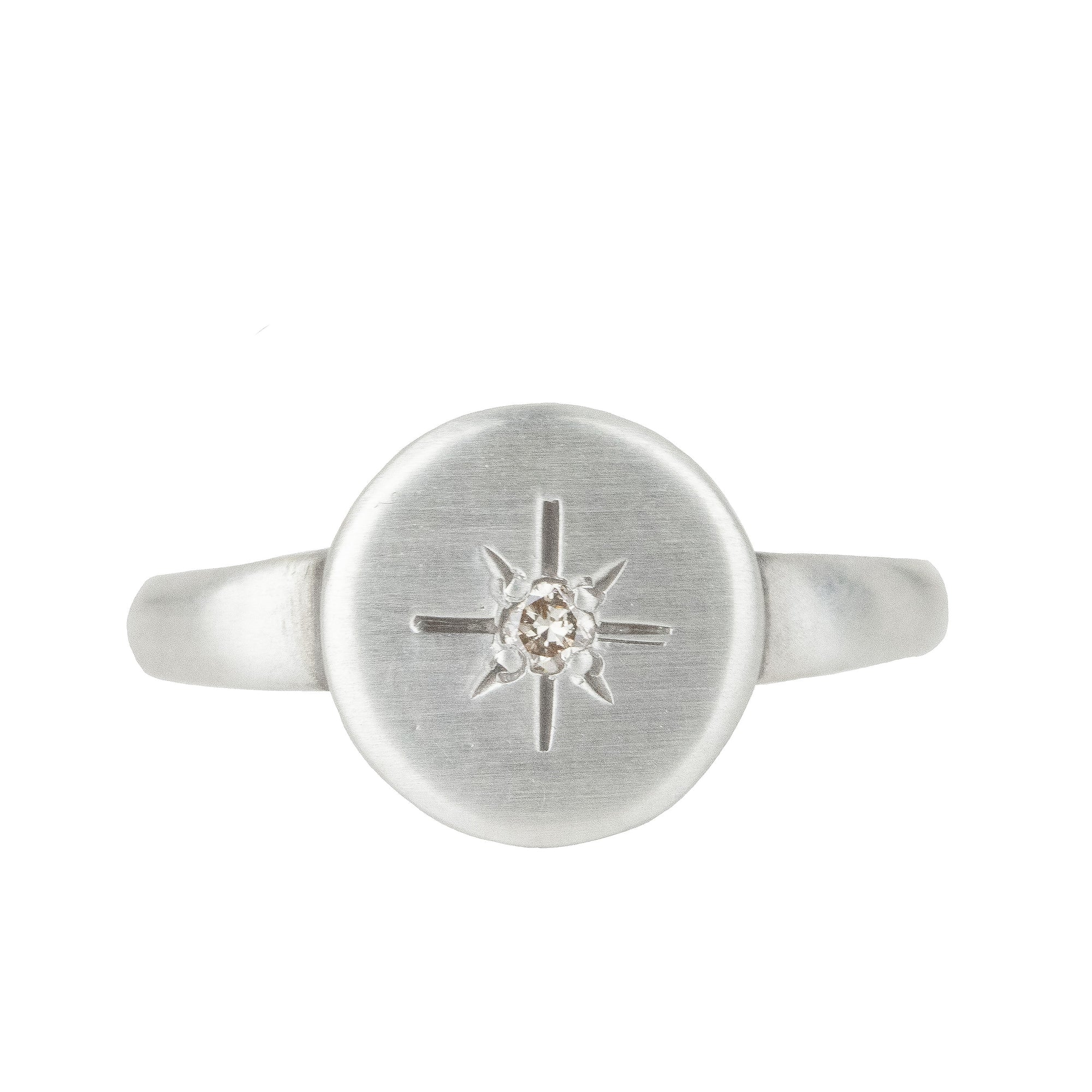 Diamond Disc Ring