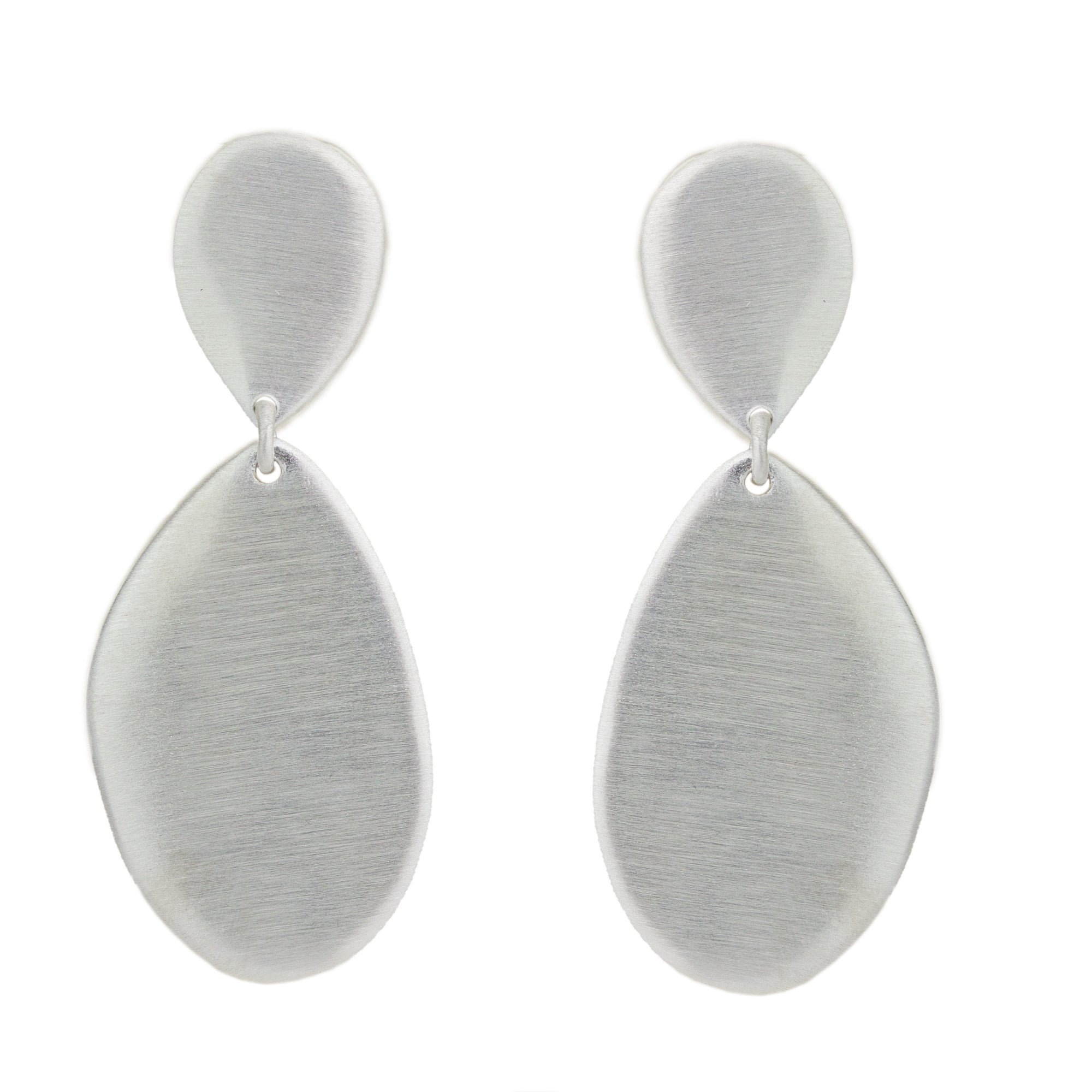 Double Flat Drop Earrings