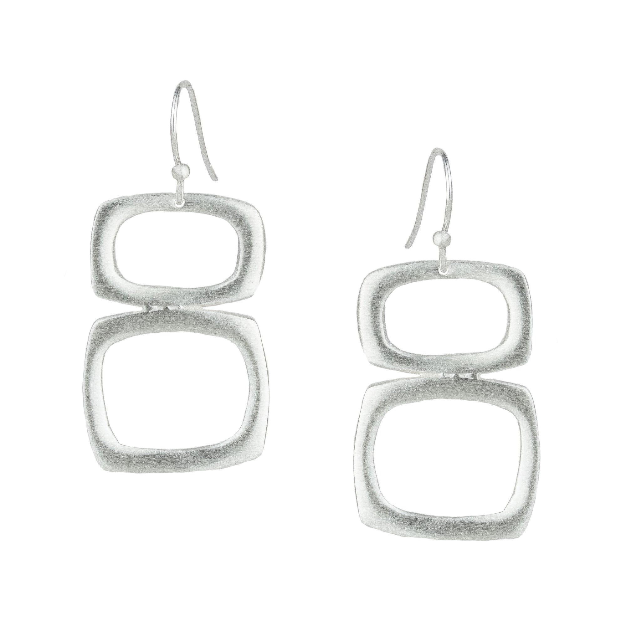 Stacked Square Earrings