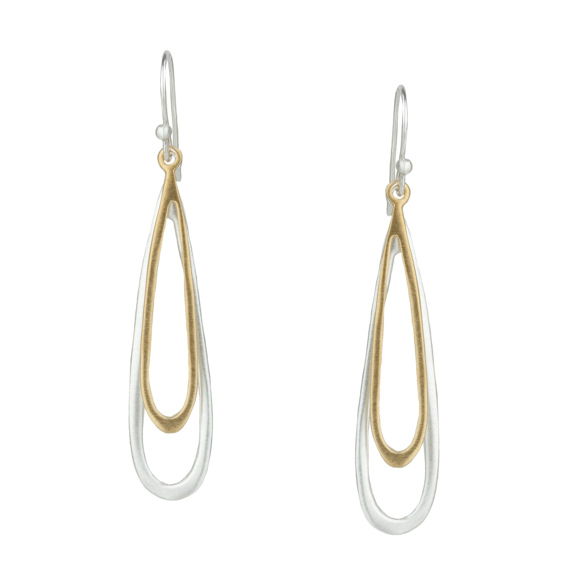 Double Open Drop Earrings