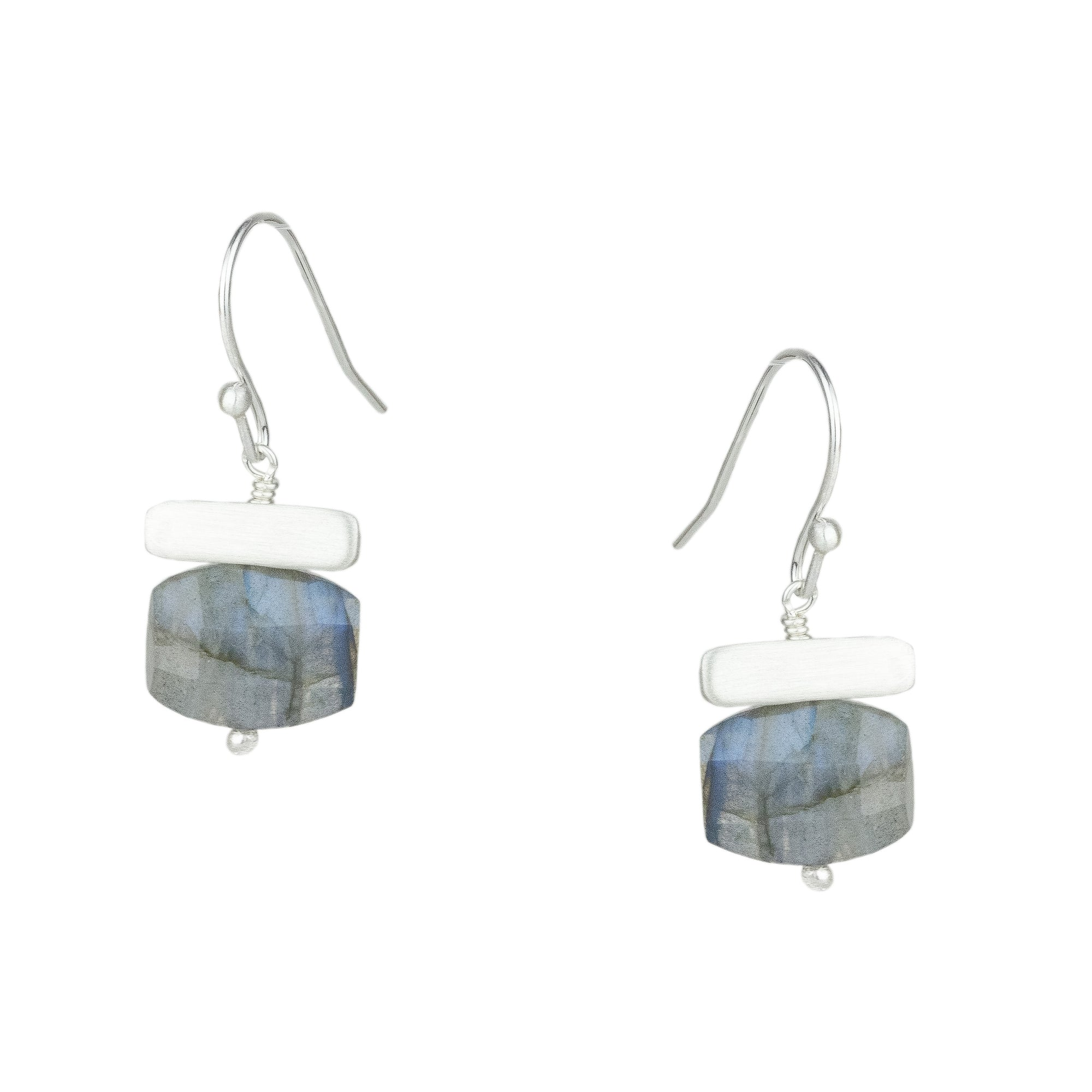Labradorite w. Bar Earrings