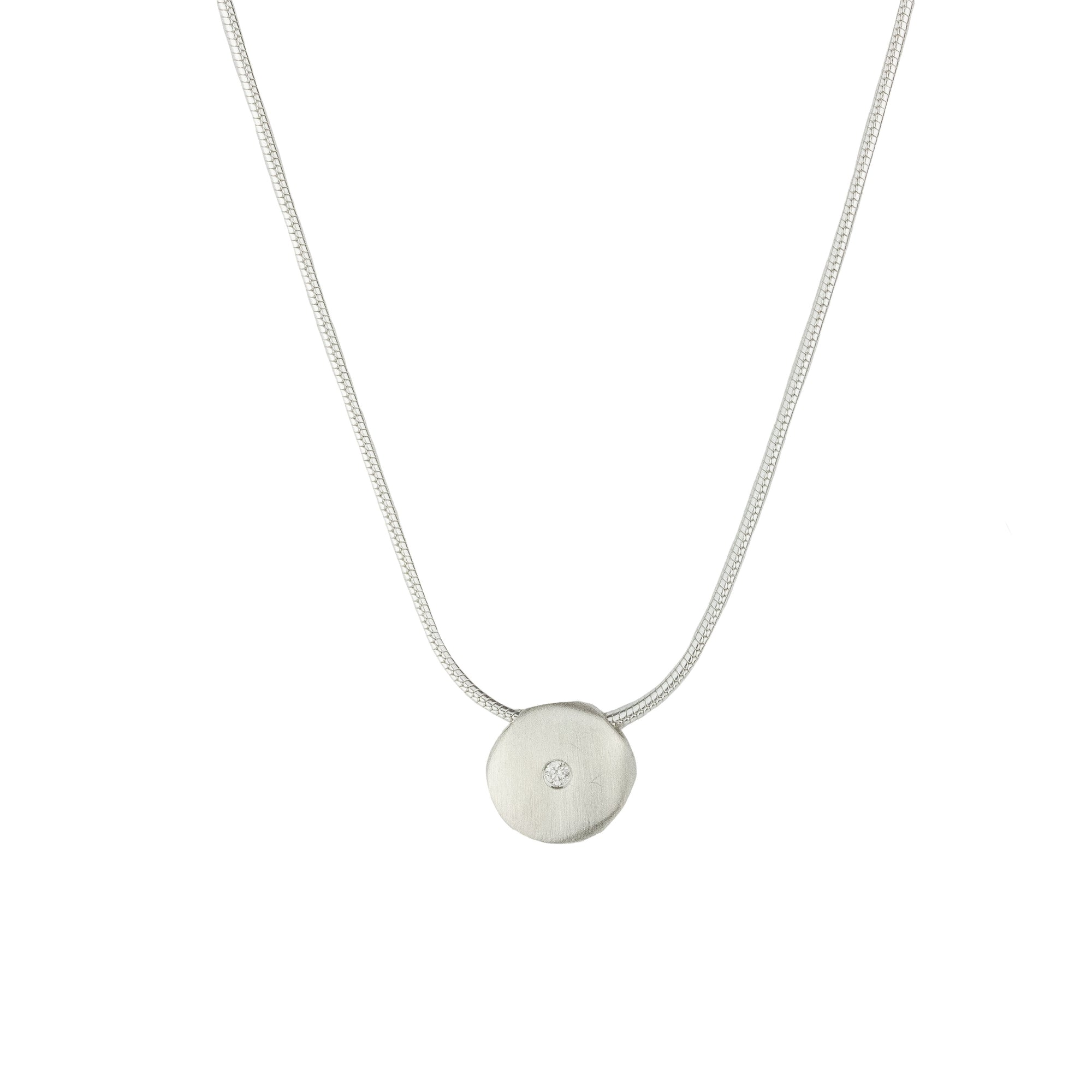 Organic Diamond Disc Necklace