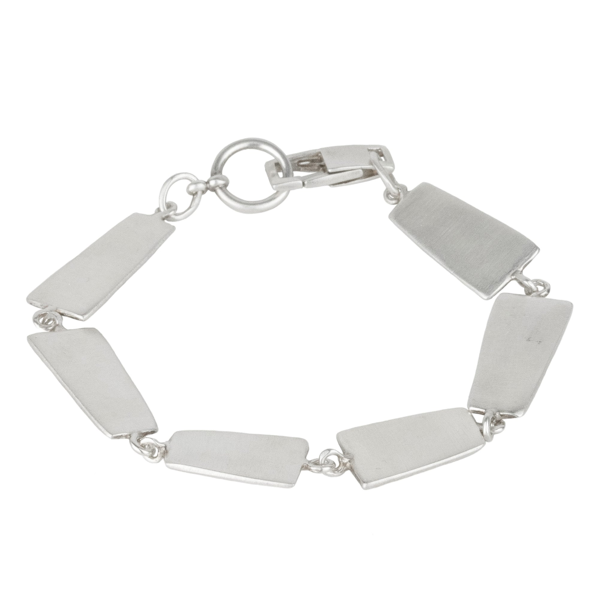 Organic Rectangle Chain Bracelet