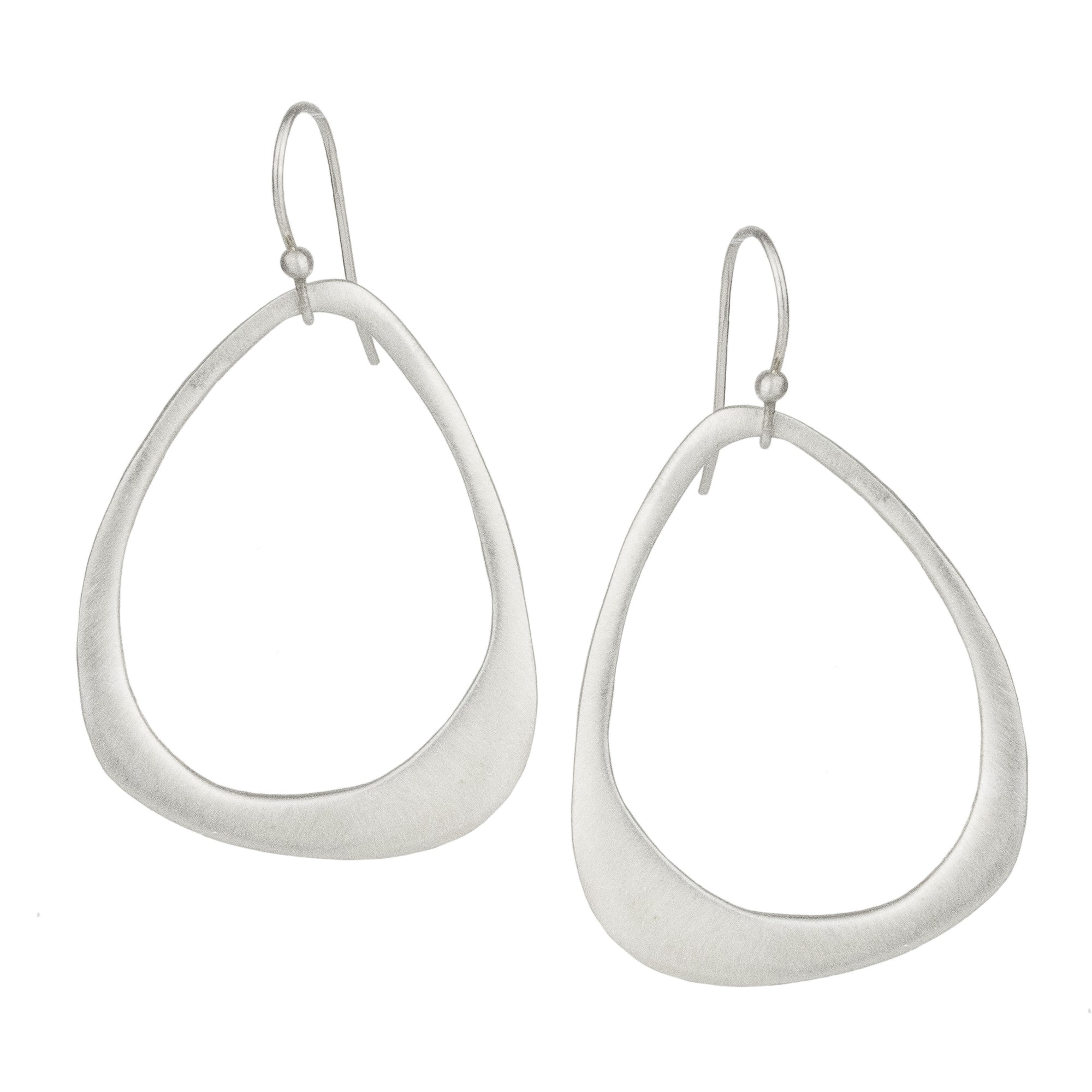 Organic Open Drop Earrings